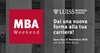 MBA Weekend: Open Day 17 novembre
